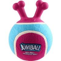 GiGwi 6330 Jumball Tenis Topu Tutmalı Bordo-Mavi