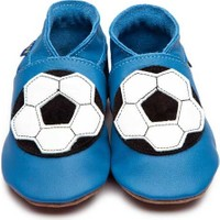 İnch Blue Hakiki Deriden Patik Football Shoe Blue