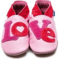 İnch Blue Hakiki Deriden Patik Loveletter Baby Pink