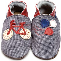 İnch Blue Hakiki Deriden Patik Bike Denim Red