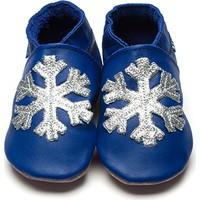 İnch Blue Hakiki Deriden Patik Snowflake Cobalt