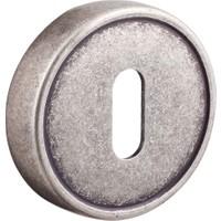 System Osm Mat Gümüş Yuvarlak Çizgili Rozet Kapağı Oda