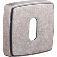System Osm Mat Gümüş Kare Çizgili Rozet Kapağı Oda