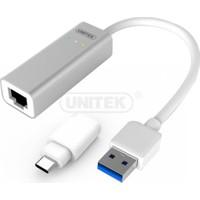 Unitek USB3.0 Alüminyum Gigabit Ethernet Dönüştürücü (USB . C Adaptör)