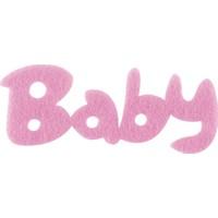 KullanAtMarket Pembe Baby Yazı Keçe Süs 50'Li