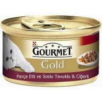 Gourmet Gold Soslu Tavuklu Ve Ciğerli Yetişkin Kedi Konservesi 85 Gr.