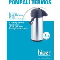 Hiper 3 Lt Pompalı Çelik Termos