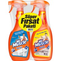 Mr Muscle Mutfak 750 ml + Mr Muscle Banyo 750 ml