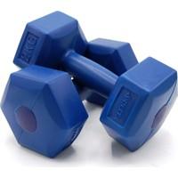 Delta Mavi Köşeli Plastik Dambıl Set (Kutuda Çift) - 2 Kg x 2 Adet / MVD 20