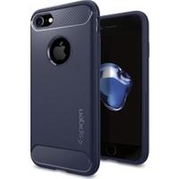 Spigen Apple iPhone 8 - iPhone 7 Kılıf Rugged Armor Midnight Blue - 042CS21188