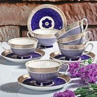 Royal Windsor Versace Blue New Bone Porselen 6 Kişilik Nescafe Takımı