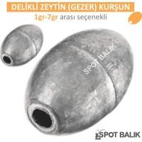 Spotbalık Delikli Gezer Zeytin Kurşun 1-7G Arası (100G Paket)