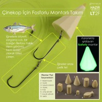 Spotbalık Fosforlu Mantarlı Yemli Çinekop Takımı 2 İğneli