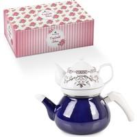 Weisenberg Sarmaşık Lacivert Çaydanlık Takımı