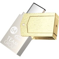 Team M161 64GB USB3.1 Type-C Bellek (Altın Rengi)(85MB/s Okuma / 20MB/s Yazma) (TMUM16164GTC)