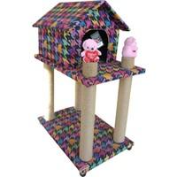 Lepus Katlı Yuvalı Kedi Tırmalama Oyun Alanı 40*60*90 cm