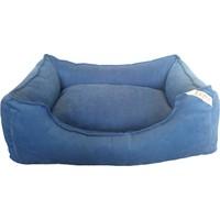Lepus Soft Mavi Köpek Yatağı Large 65x20x85 cm