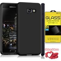 Coverzone Samsung Galaxy J7 Prime Kılıf Fit Silikon Siyah + Kırılmaz Cam + 3D Araç Kokusu