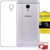 Coverzone Meizu M3 Note Kılıf 0,2 Ultra İnce Silikon + Kırılmaz Cam + 3D Araç Kokusu