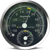 Anymetre Duvar Tipi Dev Boy Termometre Ve Higrometre Thr177