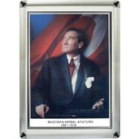 Martı Atatürk Portresi 50x70 Metal Çerçeve Duvara Monte