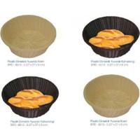 Biradlı Açık Büfe Yuvarlak Plastik Ekmeklik