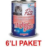 Miglior Gatto Somonlu Ton Balıkli Pate Kedi Konservesi 400 Gr (6'li Paket)