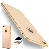 Teknoarea Apple iPhone 7 plus 360 sert luks kılıf kadifemsi doku