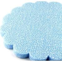 Smartevim Nikah Şekeri Mavi Karlı Tül Kese 18 Cm 100 Ad Süsleme Malzemeleri