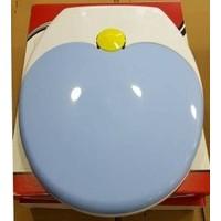 Çelik Ayna Çocuk Adaptörlü Çift Kullanımlı Klozet Kapağı - Mavi