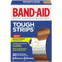 Band-Aid Tough Strips Yara Bandı 20'li Tek Ölçü