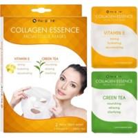 Collagen Yüz Maskesi Collagen E Vitaminli ve Yeşilçay Özlü 2.li. NU-PORE