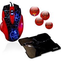 Inca IMG-319 8D + 4800 DPI + 7 Color Led USB Gaming Mouse + Mousepad