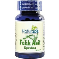 Naturade Folik Asit 400µg & Spirulina 120 Kapsül 380mg   Folic Acid