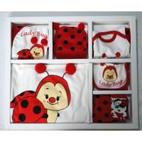 Baby Pearly Uğur Böceği Kostümlü 10 Parça Hastane Çıkışı Zıbın Seti