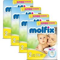 Molfix Bebek Bezi Comfort Fix Jumbo 4'Lü Paket 2 Beden 312 Adet