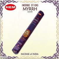 Hem Myrrh Incense Sticks - Sarı Sakız Tütsü 20 Adet