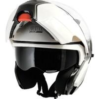 CGM Singapore Beyaz Çene Açılır Motosiklet Kaskı 505A-BLV-14E Xlarge