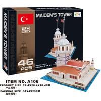 Cc Oyuncak 3D Puzzle Maiden's Tower - 46 Parça