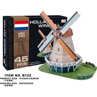 Cc Oyuncak 3D Puzzle Holland Windmill - 45 Parça