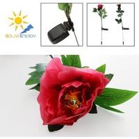 Anka Dekoratif Renk Değiştiren Çiçek Solar Bahçe Lambası