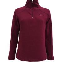 Kappa Kadın Yarım Fermuarlı Polar Sweatshirt Bordo 1303PXS000E