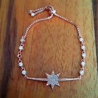 Bella Gloria Kutup Yıldızı Rose Gümüş Bileklik (Gb00308)