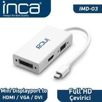 Inca Full HD Mini Displayport To HDMI/VGA/DVI Çevirici IMD-03
