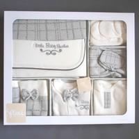 Flexi Erkek Bebek Hastane Çıkışı Yeni Doğan Seti Antialerjik 10'lu Flexi 235003 Gri