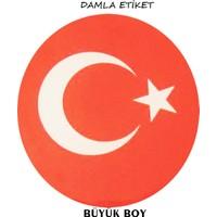 Damla Etiket Türk Bayrağı Büyük Gliptone-Carat