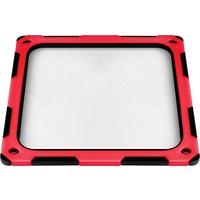 SilverStone 12cm Titreşim Önleyici Silikonlu Kırmızı/Siyah Fan Filtresi (SST-FF124BR-E)