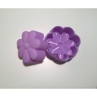 d-sign home 6'lı Çiçek Mini Kek Kalıbı - Lila