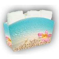 Melay Kumsal Pembe Çiçekli 3'Lü Havlu Set