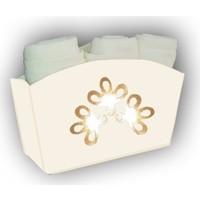 Melay Varak Çiçekli 3'Lü Havlu Set